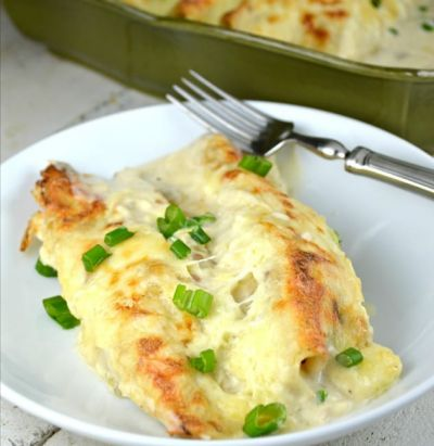 DIET CENTER SOUR CREAM ENCHILADAS