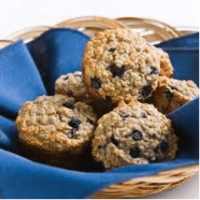 DIET CENTER BLUEBERRY OAT MUFFINS